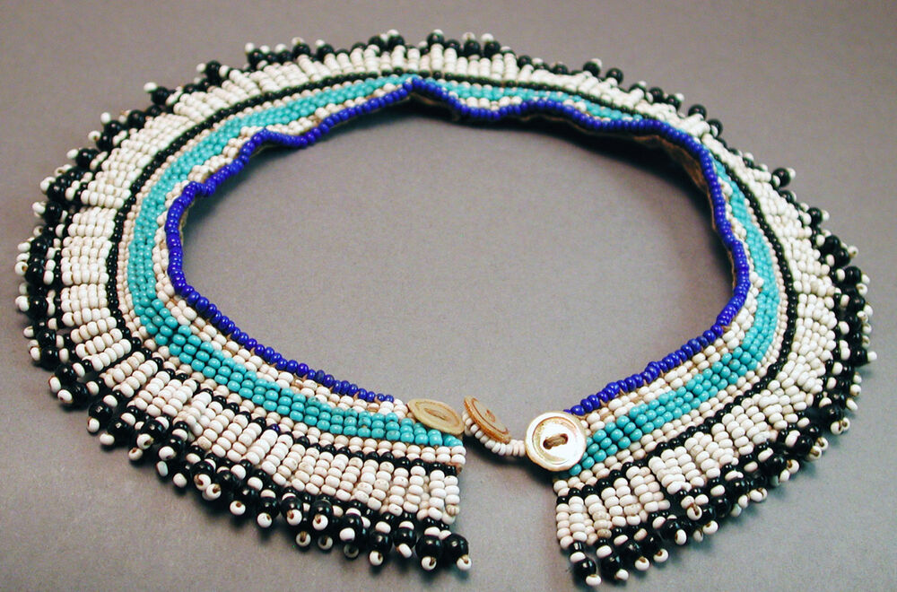 beaded necklace tribally used ndebele flat collar jewelry
