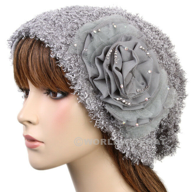 Chic Fashion Beanie Hat Woman Cap Lady Winter Gray be911g ...