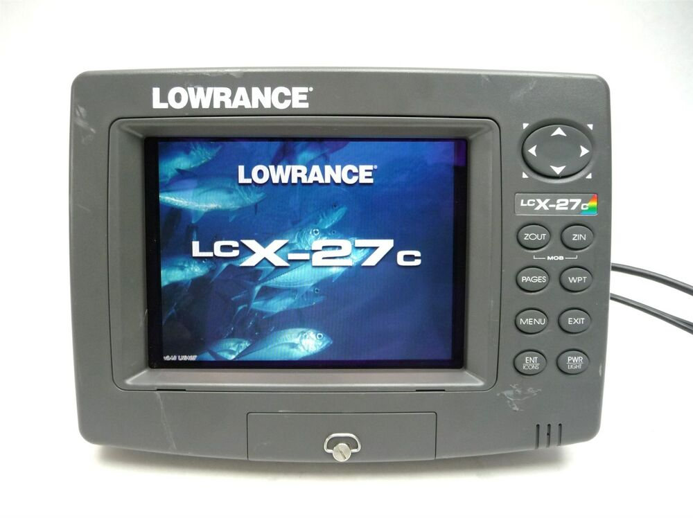 Lowrance lcx 27c color sonar lake fish finder gps receiver for Fish finder lowrance