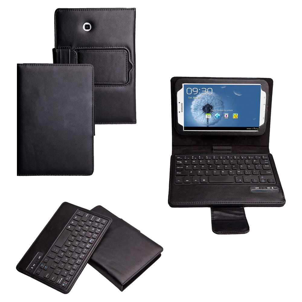 bluetooth keyboard leather case for samsung galaxy tab 3 8. Black Bedroom Furniture Sets. Home Design Ideas