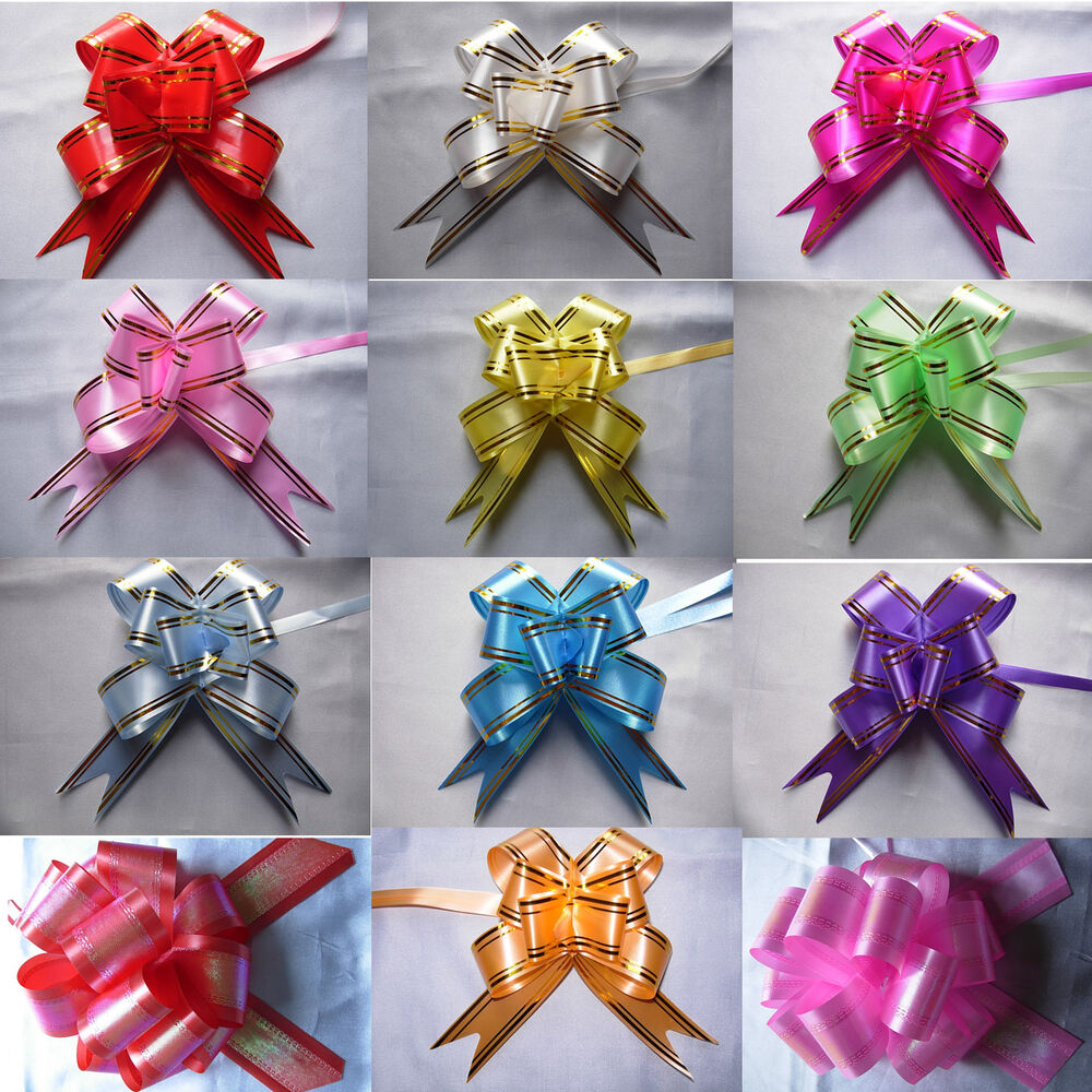 30 MM Ribbon Pull Bows Wedding Party Decorations Gift Wrap ...