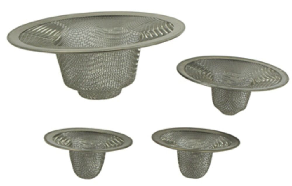 Wire Mesh 4 Pc Set Sink Tub Strainer Stainless Steel