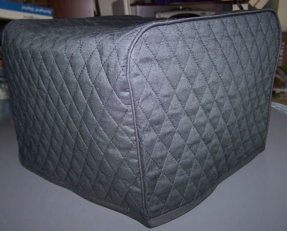 black or your color choice quilted fabric 4 slice or 2 slice toaster cover new ebay. Black Bedroom Furniture Sets. Home Design Ideas