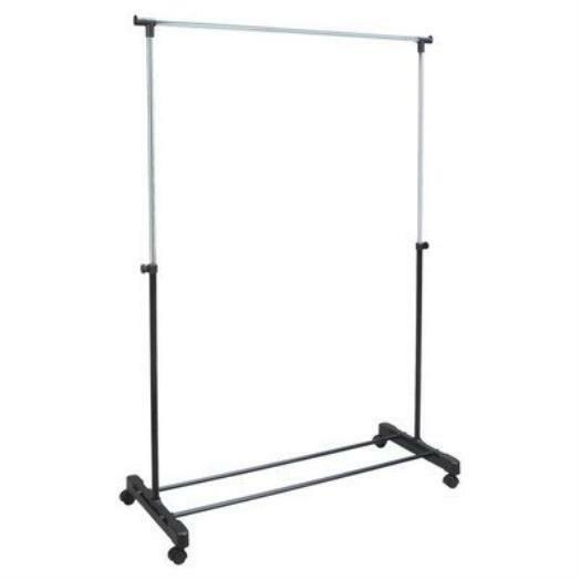 rolling lightweight portable garment rack clothes hanging hanger ebay. Black Bedroom Furniture Sets. Home Design Ideas