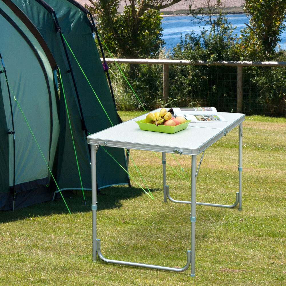 portable folding camping picnic table party kitchen. Black Bedroom Furniture Sets. Home Design Ideas