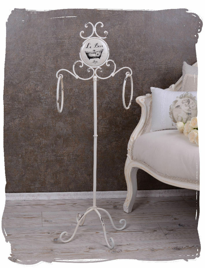 nostalgischer vintage handtuchhalter shabby chic weiss handtuchst nder ebay. Black Bedroom Furniture Sets. Home Design Ideas