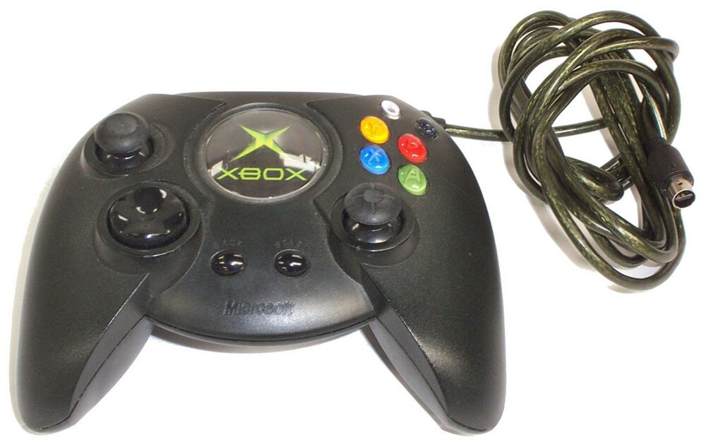 Old Xbox Controller Games : Microsoft original wired large xbox game controller black