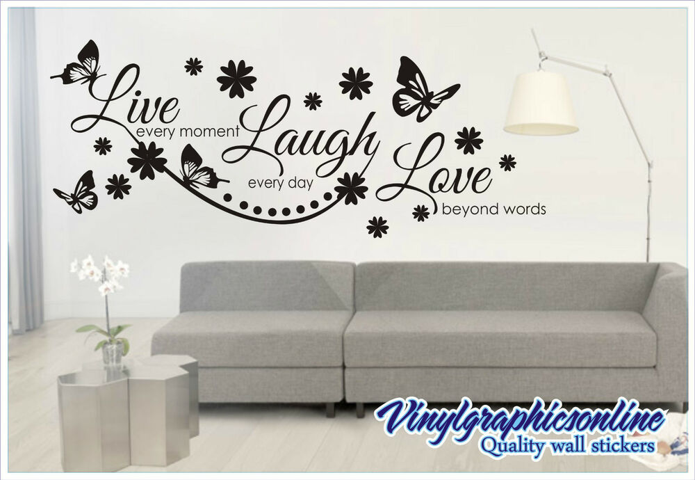 live laugh love wall quote sticker wall decal mural live laugh love quote wall sticker wallstickers co uk