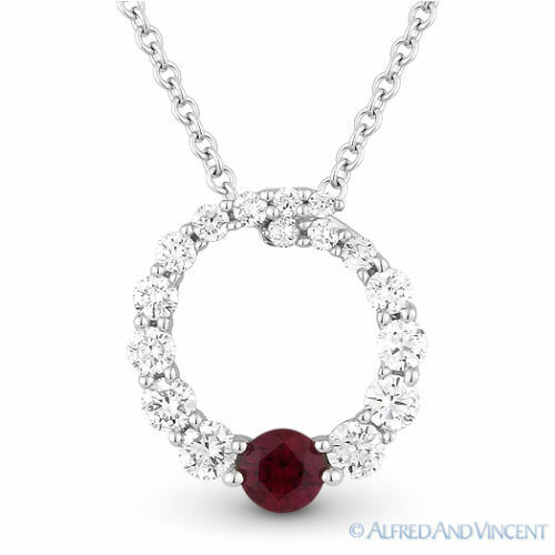 Diamond Eternity Circle Pendant Necklace