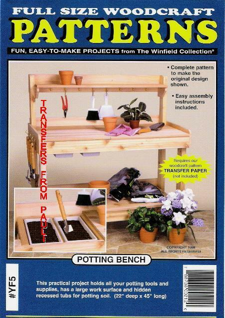 Garden Potting Bench Woodcraft Woodworking Pattern The