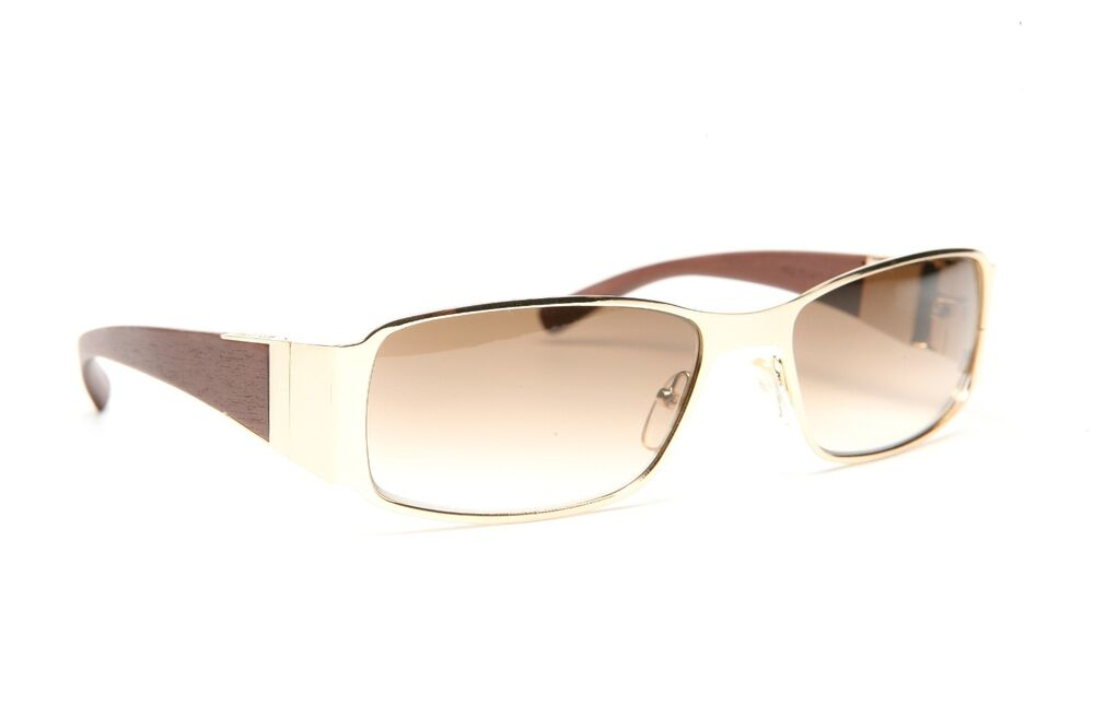 GOLD AND WOOD RIMMED EYEGLASSES GLASSES SUNGLASSES H21.3 ...