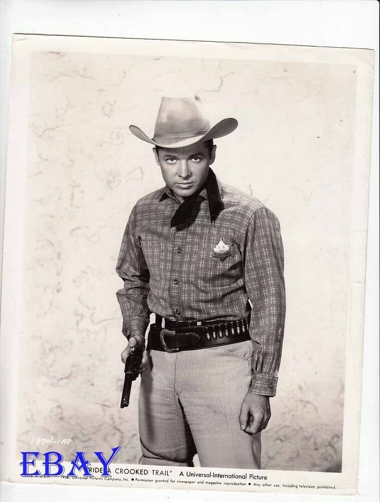 Audie Murphy Vintage Photo Ride A Crooked Trail Ebay