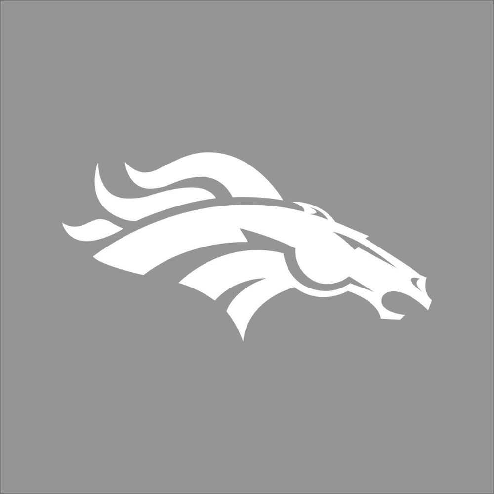 Denver broncos nfl team logo 1 color vinyl decal sticker for Vinyl windows denver