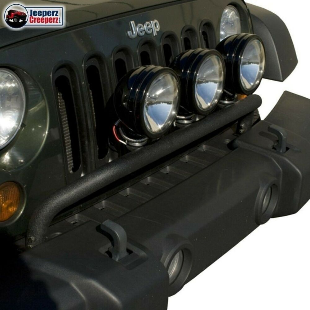 rugged ridge front bumper light bar black 2007 2016 jeep. Black Bedroom Furniture Sets. Home Design Ideas