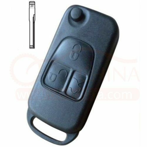 Mercedes benz 3 button replacement remote flip key fob for Mercedes benz replacement keys
