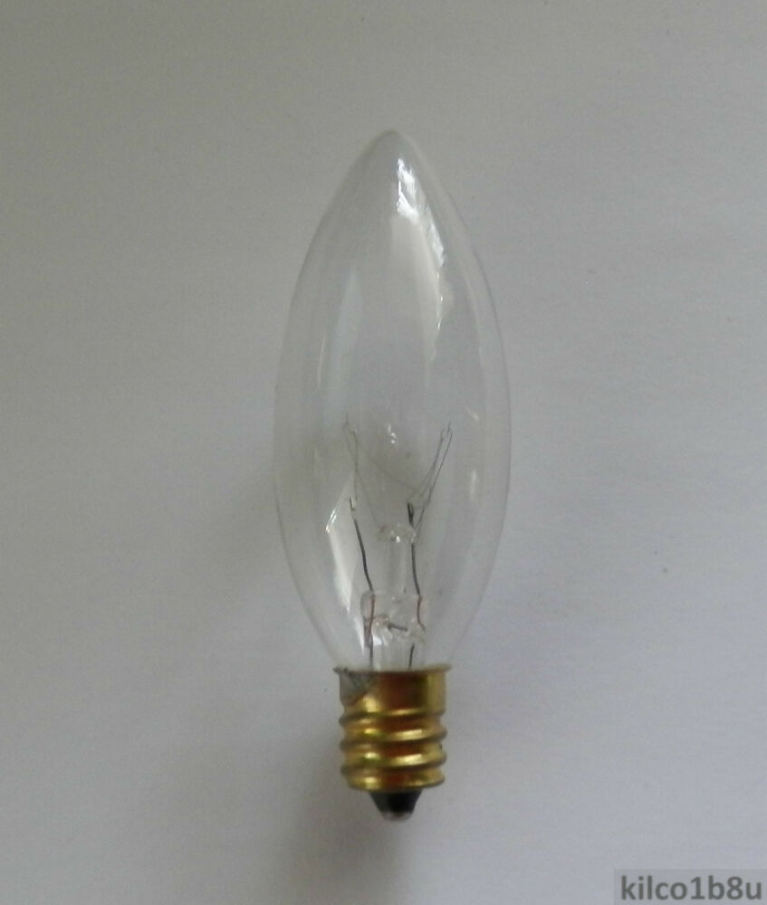 7w Clear Light Bulb For Electric Candle Lamps E12