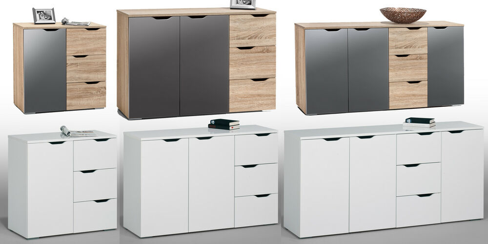 kommode sideboard aktenschrank anrichte mod 4ko sonoma. Black Bedroom Furniture Sets. Home Design Ideas