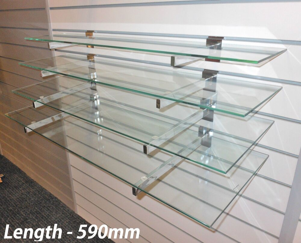4 Toughened Glass Shelves With Or Without Slatwall