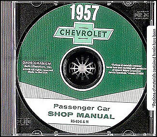1957 chevy car shop manual cd 57 bel air 150 210 nomad for Nomad service
