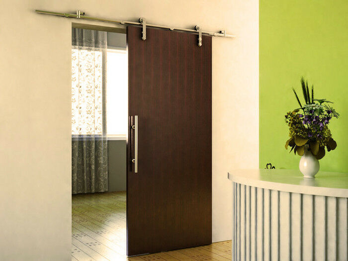ft modern stainless steel interior sliding barn wood door hardware