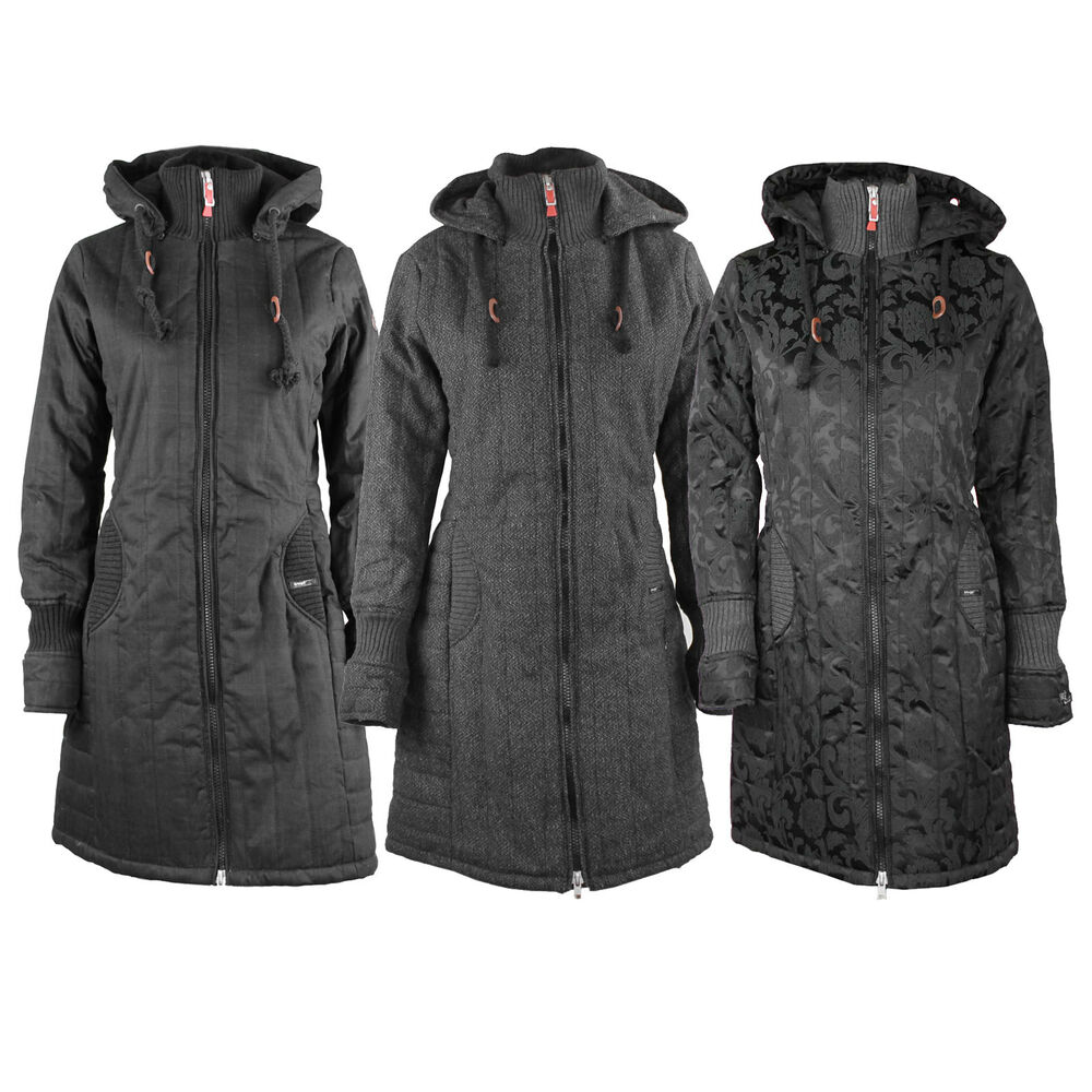 khujo retro jerry parka womens winter coat coat winter jacket ebay. Black Bedroom Furniture Sets. Home Design Ideas