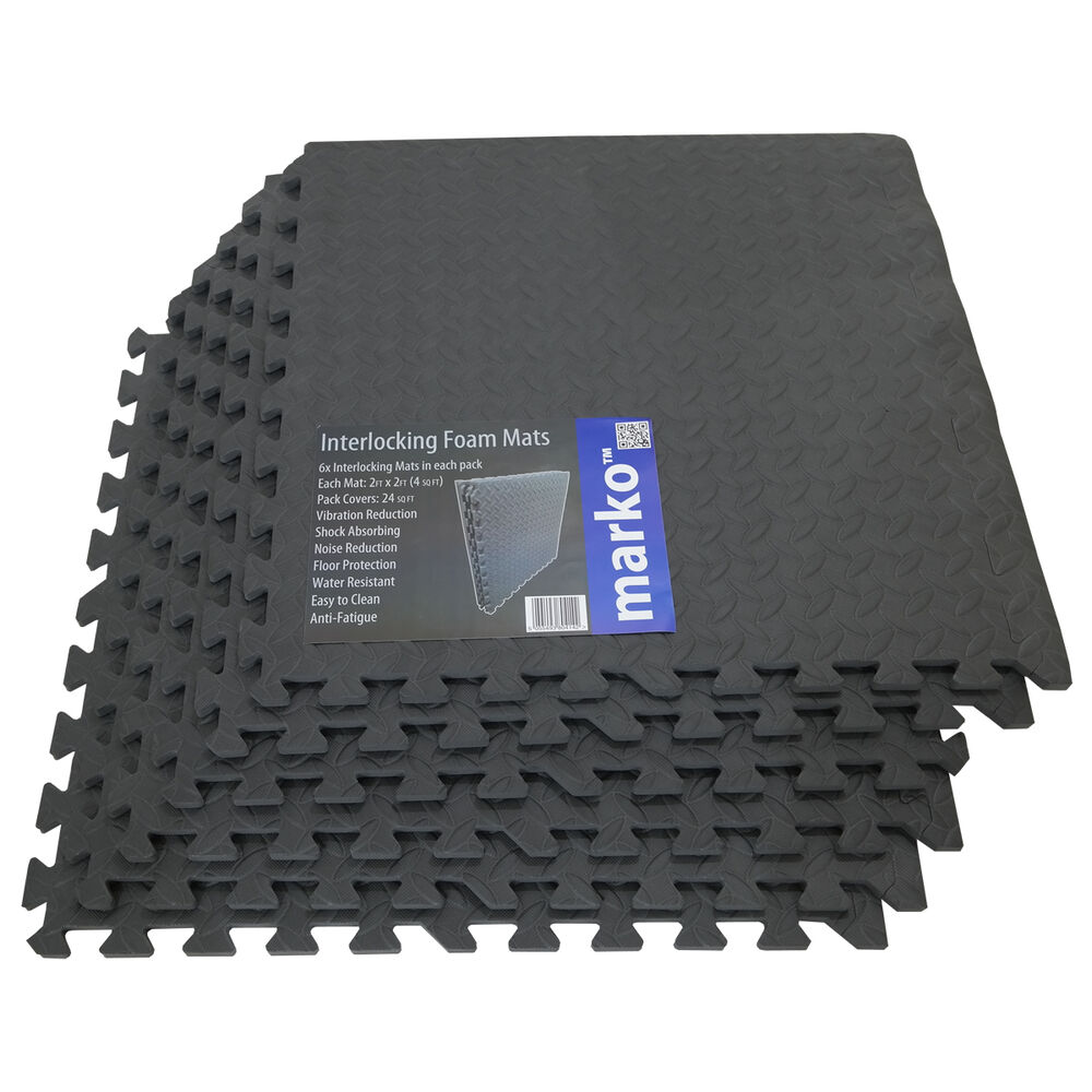 Interlocking mats gym exercise garage anti fatigue floor