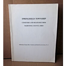 SPRINGFIELD TOWNSHIP genealogy book OHIO Cemetery & Death Records history ZION