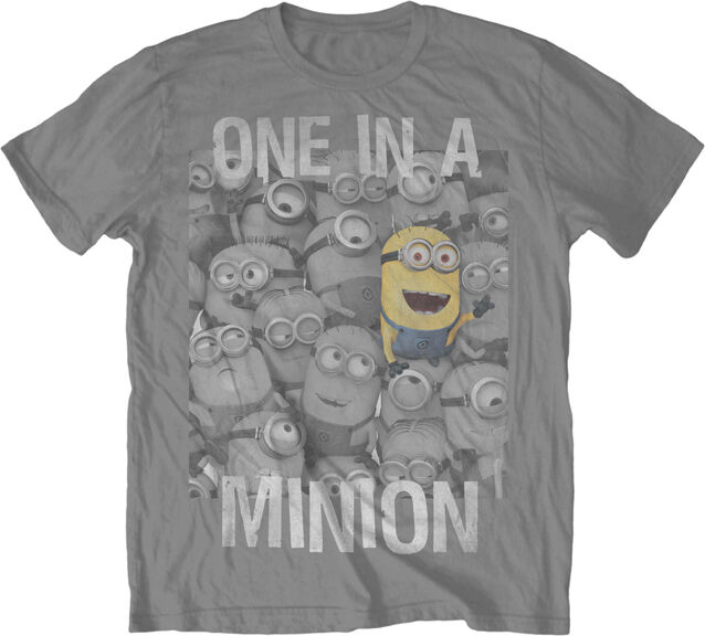 despicable me 2 one in a minion movie licensed adult shirt. Black Bedroom Furniture Sets. Home Design Ideas