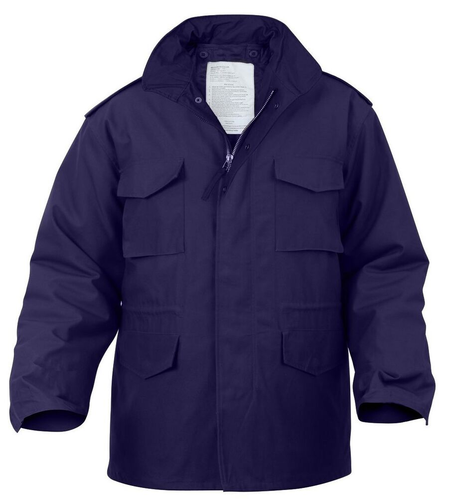 field jacket m-65 with removable liner navy blue military ...