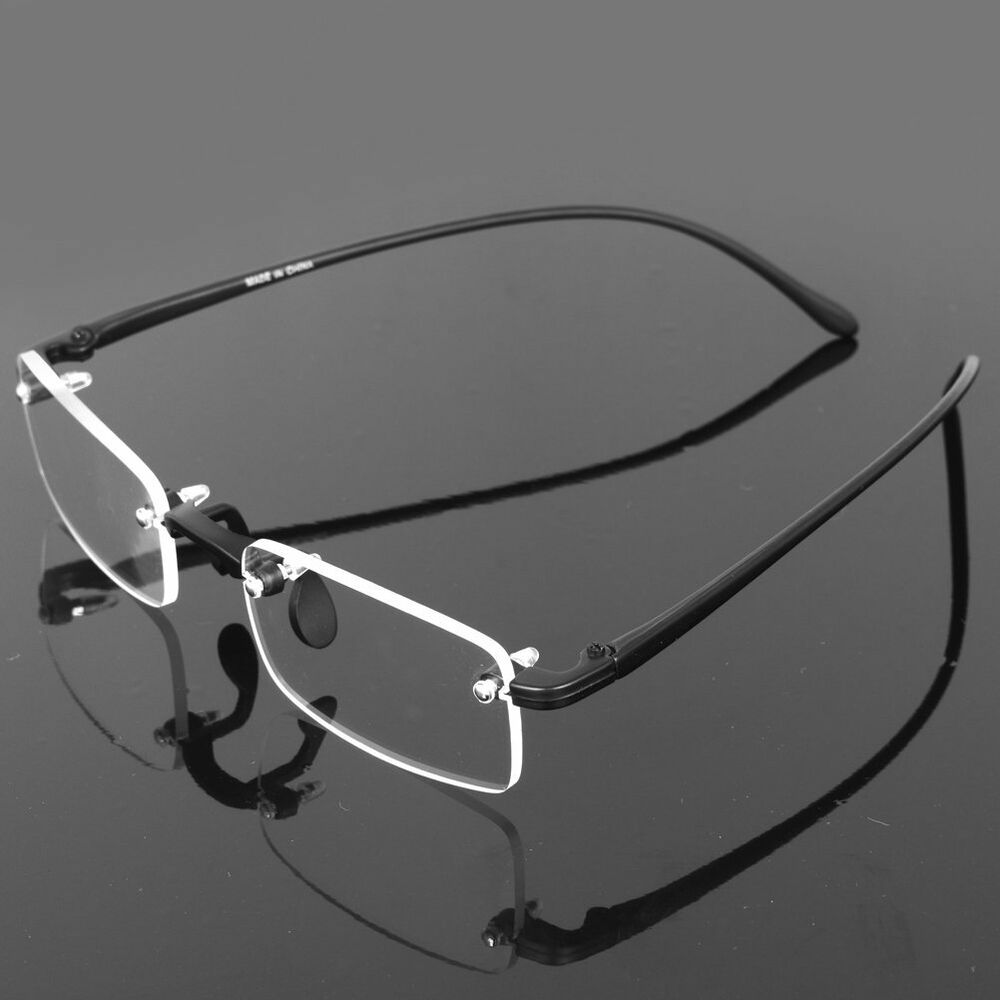 Frameless Eyeglasses Frames : Flexible Rimless Frameless Reading Glasses Reader +1.00 +1 ...