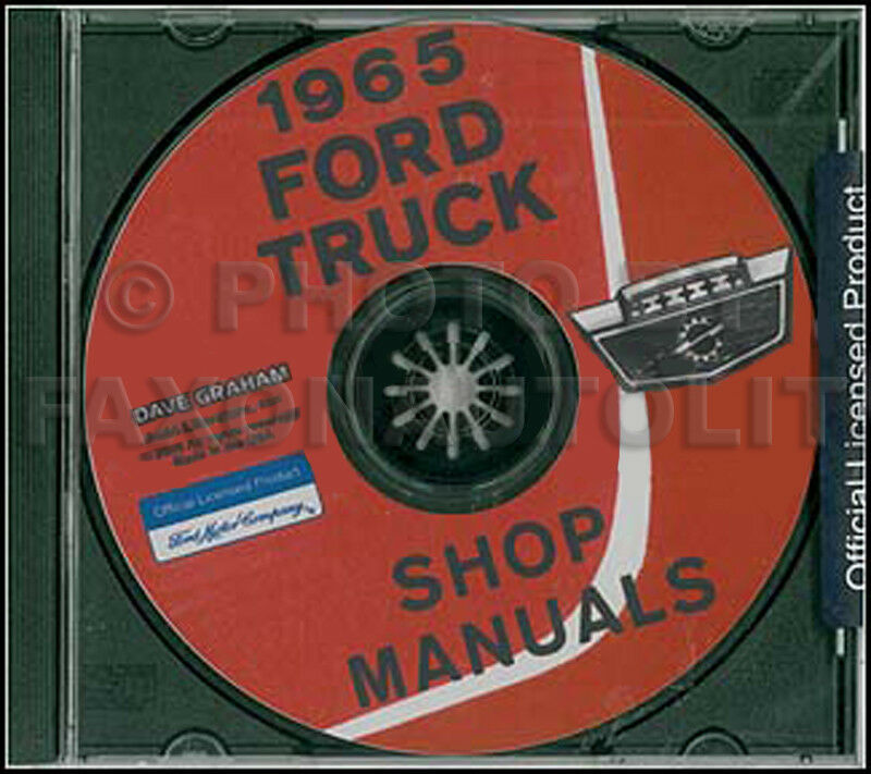 1965 Ford Pickup And Truck Shop Manual On Cd F100 F250