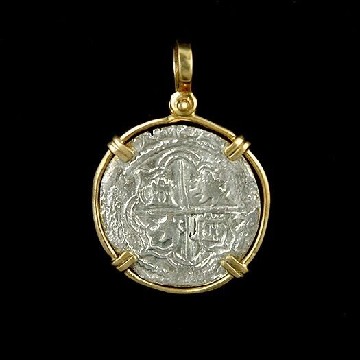 atocha sunken treasure jewelry 2 reale silver coin