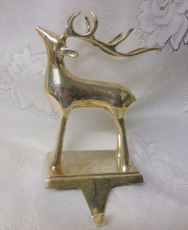 Silver plated christmas mantel hook stocking holder for Mantle holders