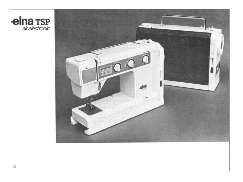 ELNA TSP 40 AIR ELECTRONIC INSTRUCTION MANUAL On CD In PDF Format EBay Best Elna Air Electronic Tsp Sewing Machine Manual