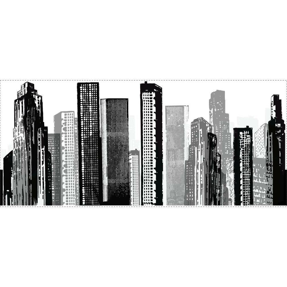 cityscape giant wall sticker mural room decor buildings giant hulk mural wall decals stickers eonshoppee