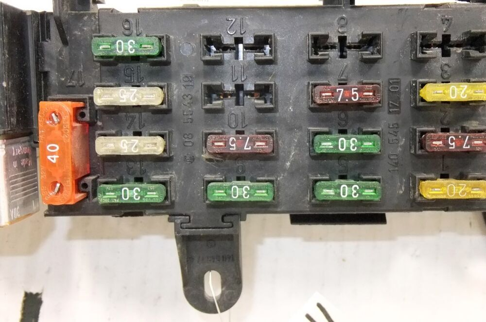 mercedes w124 fuse box fuse box/panel mercedes benz w124 e-class e420 2001 oem | ebay mercedes benz fuse box location diagram