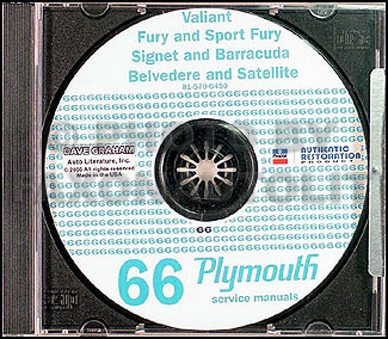 1966 Plymouth Cd Shop Manual 66 Barracuda Valiant Fury Belvedere Satellite Vip