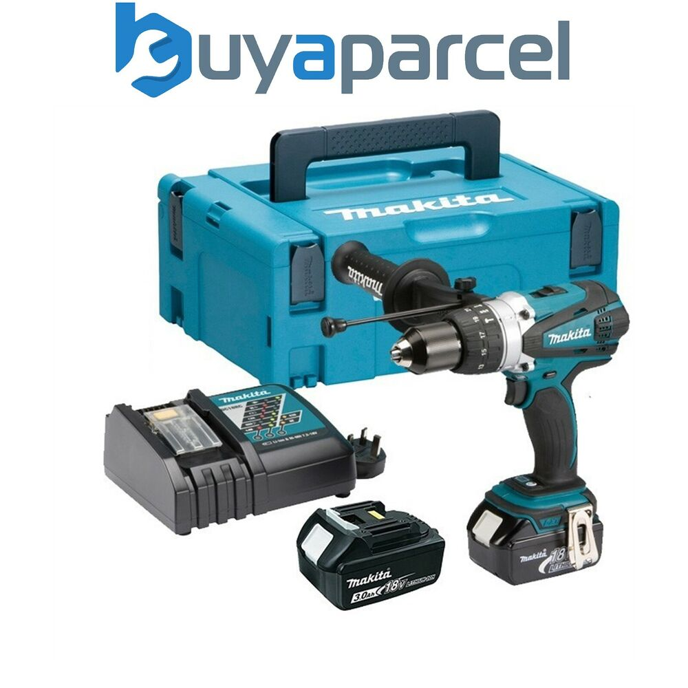 makita dhp458rfe lxt 18v combi hammer drill 2 batts replaces bhp458 ebay. Black Bedroom Furniture Sets. Home Design Ideas