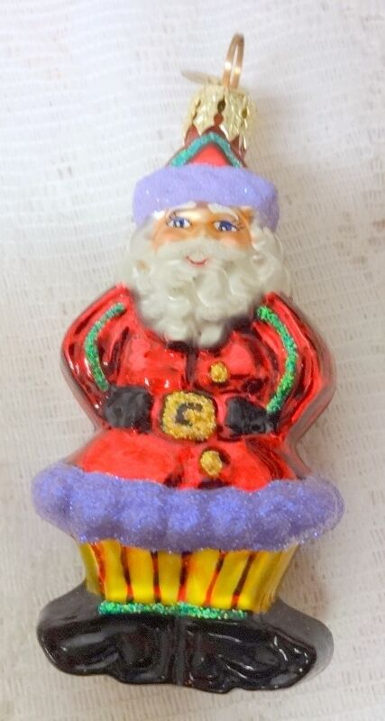 Vintage christopher radko little gems collection santa for Collecting vintage christmas ornaments
