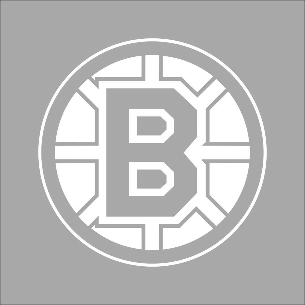 Boston Bruins NHL Team Logo 1Color Vinyl Decal Sticker Car