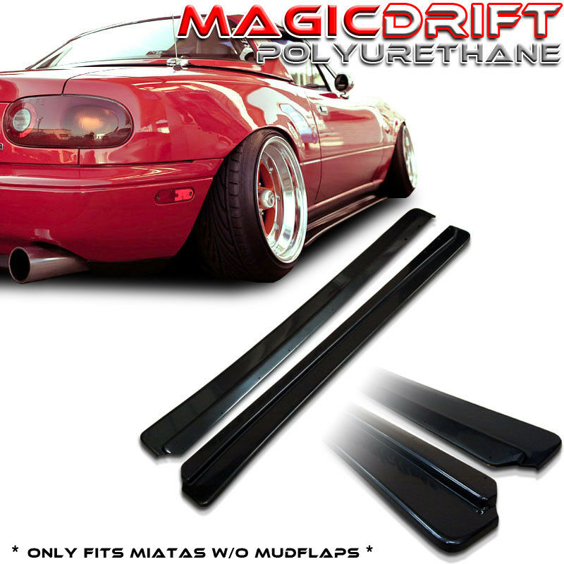 Plastic Wrap Car >> 90-97 Mazda NA Miata Roadster JDM Feed FD Style Side Skirts Flat Under Extension | eBay