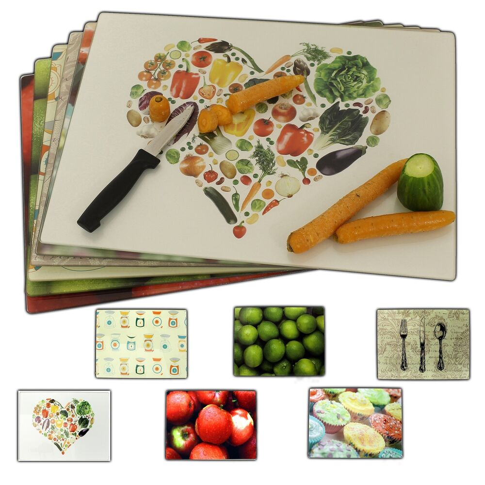 Designer glass chopping cutting boards worktop saver for To do board for kitchen