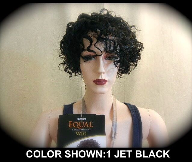 Shake-n-go Freetress EQUAL Synthetic Wig KIM short unbalanced surly ...