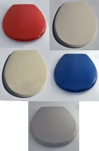 Bemis Toilet Seats Plastic Black Blue Champagne Grey Red Peach Soft Cream Whi