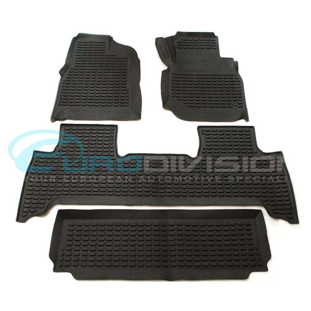 toyota land cruiser 100 series rubber interior floor mats ebay. Black Bedroom Furniture Sets. Home Design Ideas
