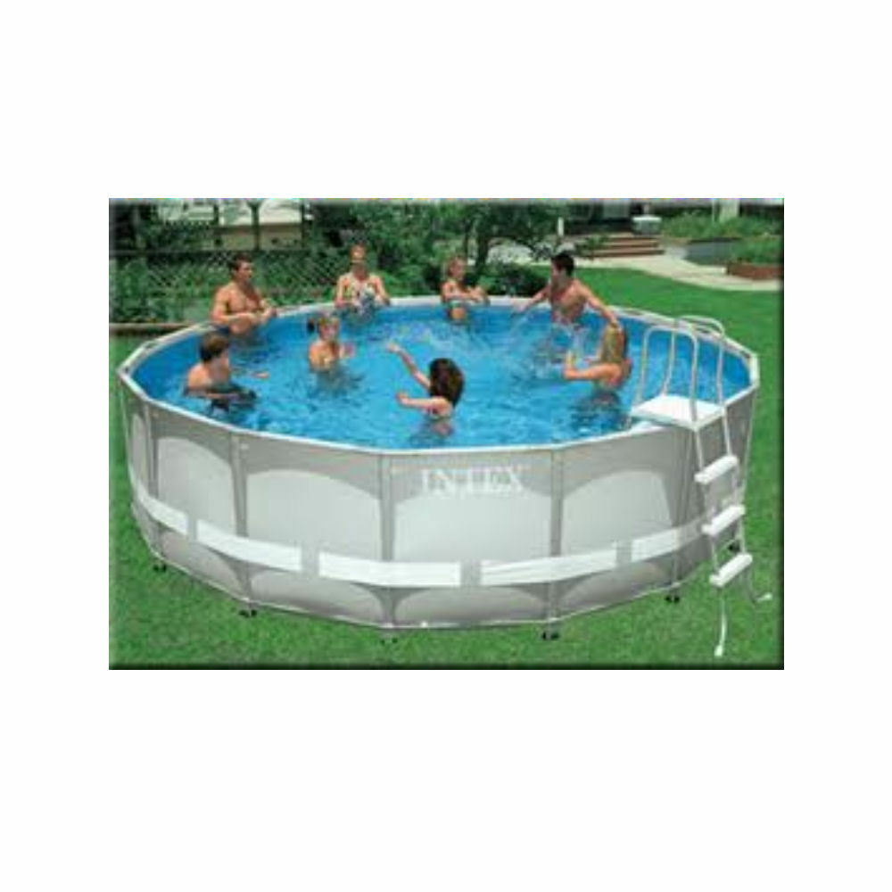 intex ultra frame swimming pool above ground paddling pool set 16 18ft 24ft 32ft ebay. Black Bedroom Furniture Sets. Home Design Ideas
