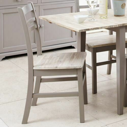 Details about florence country style chair grey kitchen dining chair with acacia seatquality