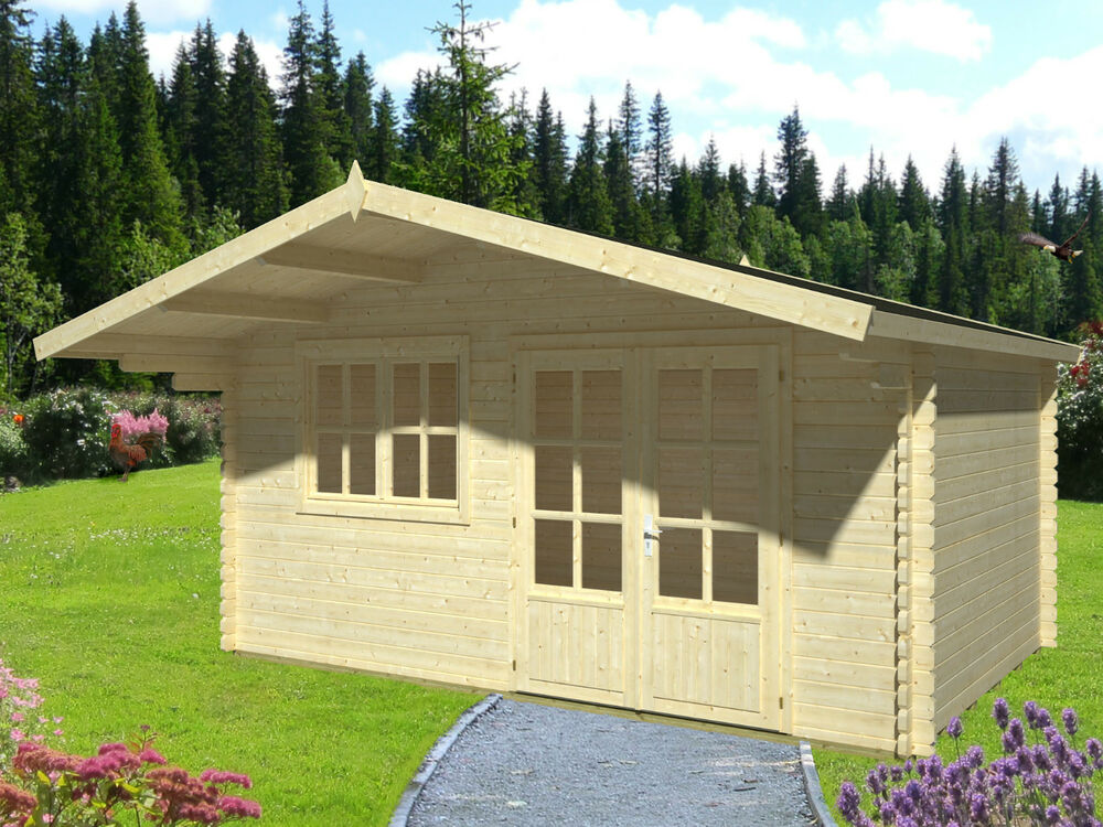 40 mm gartenhaus inkl statik versch ma e ger tehaus holz holzhaus schuppen neu ebay. Black Bedroom Furniture Sets. Home Design Ideas