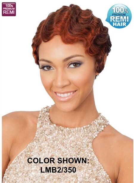Marvelous Midway Bobbi Boss Mh1233 Emeli Short Human Hair Finger Wave Wig Short Hairstyles For Black Women Fulllsitofus