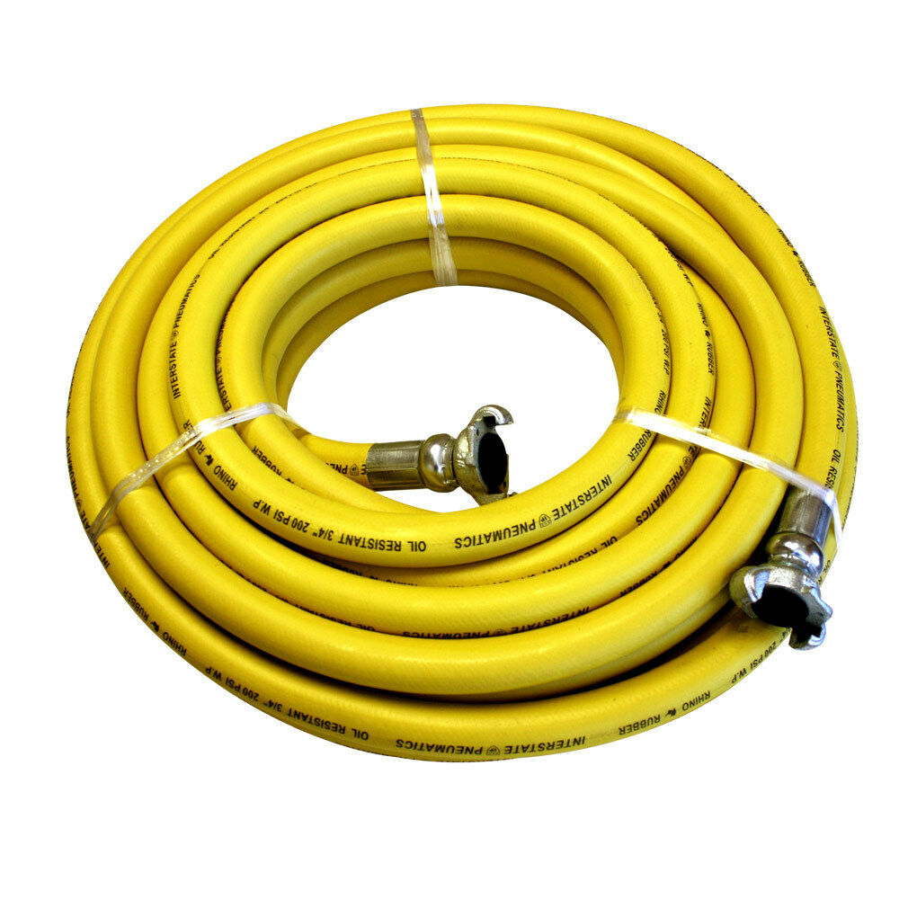 jack hammer yellow rubber hose 3 4 x 50 feet 300 psi hj59 050e ebay. Black Bedroom Furniture Sets. Home Design Ideas